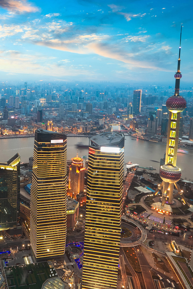 Shanghai Sunset Wallpaper