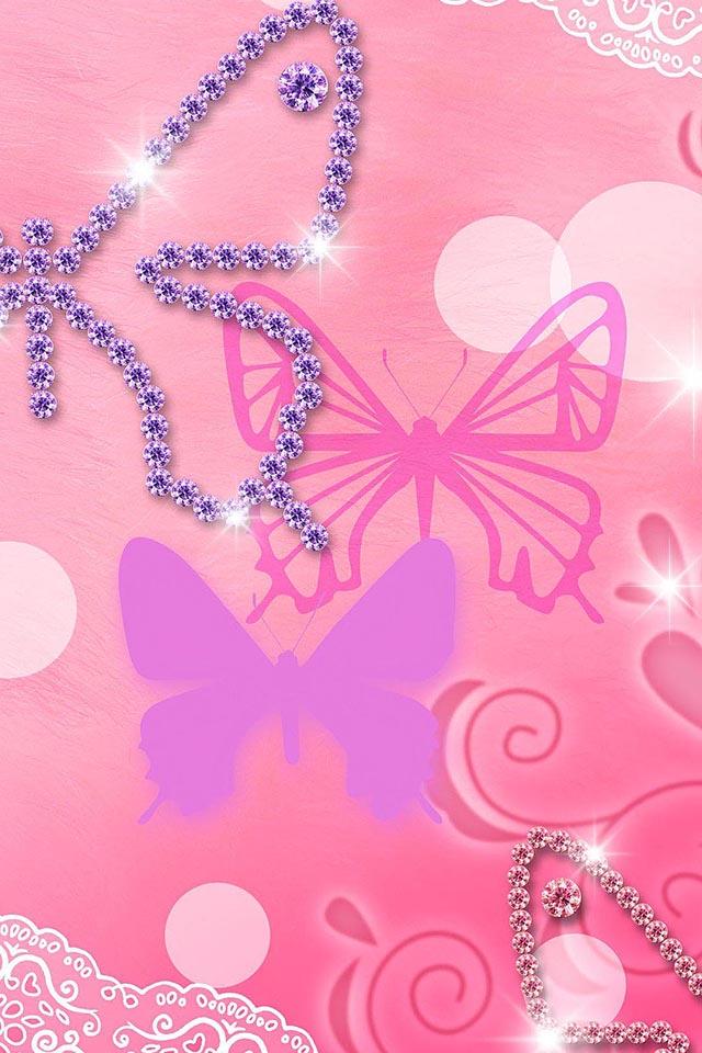 Pink Glitters Wallpaper