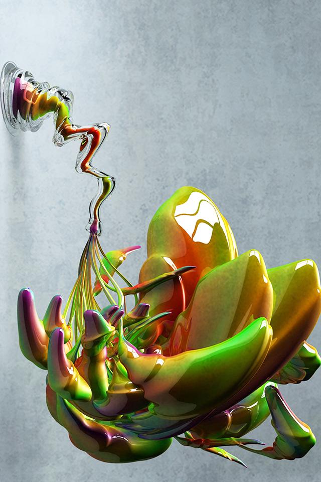 Glass Art Wallpaper