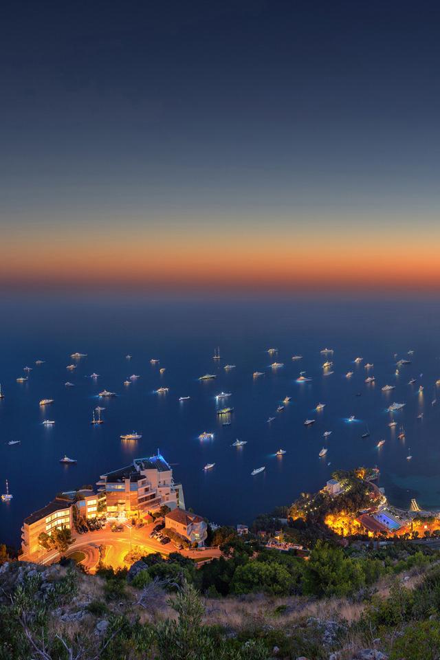 Monaco Sunset Wallpaper