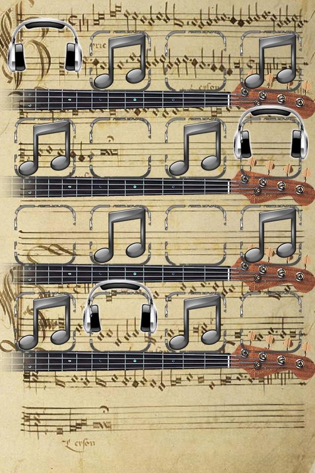 Musical Shelf Wallpaper