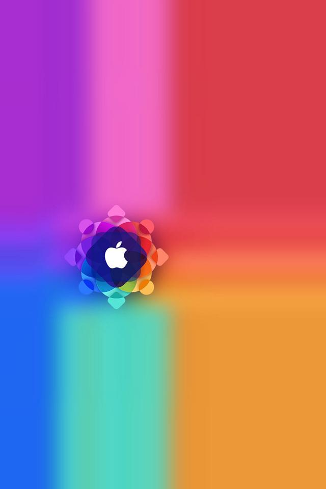 Apple Colorful Wallpaper