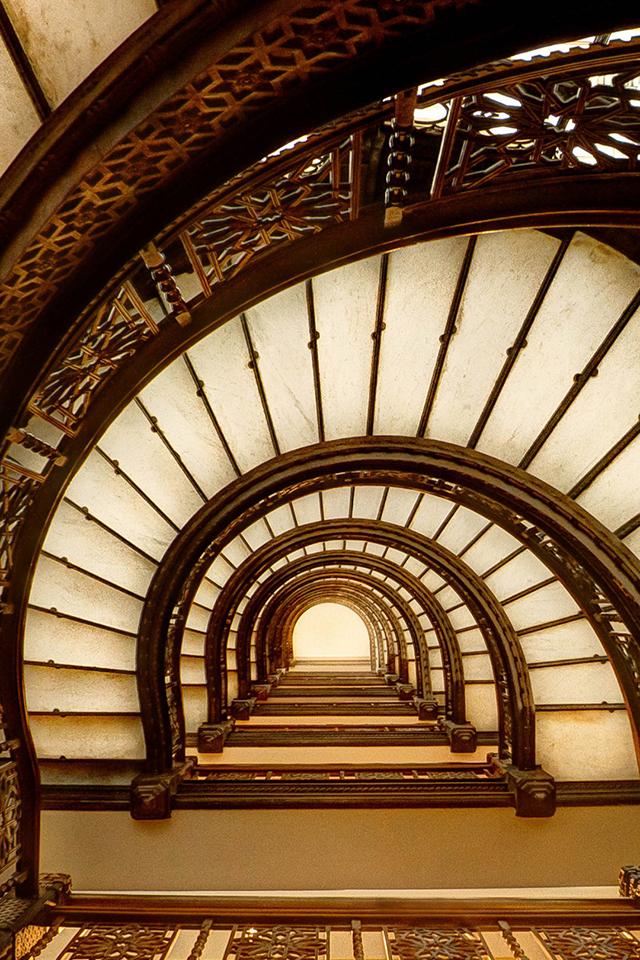 Oriel Staircase Wallpaper