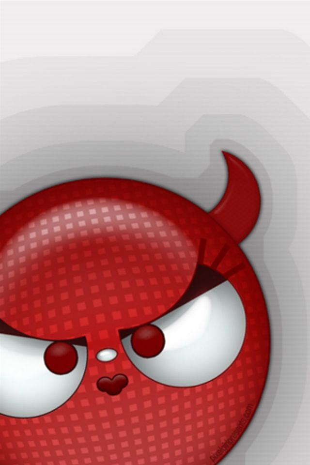 Devil Emoticon Wallpaper