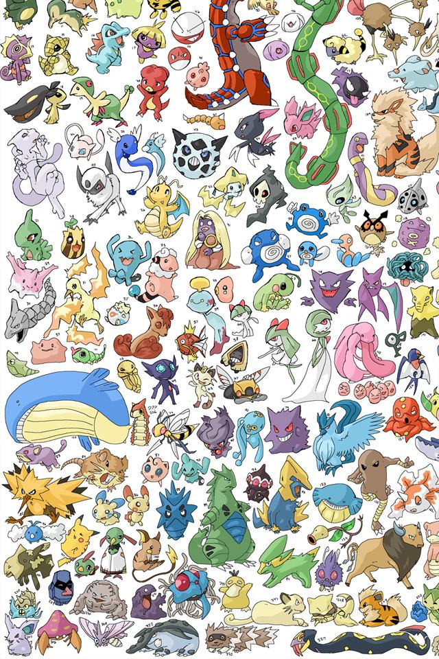 Pokemon Pattern Wallpaper
