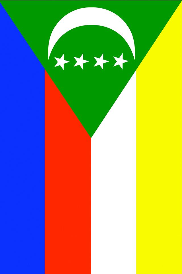 Comoros Flag Wallpaper