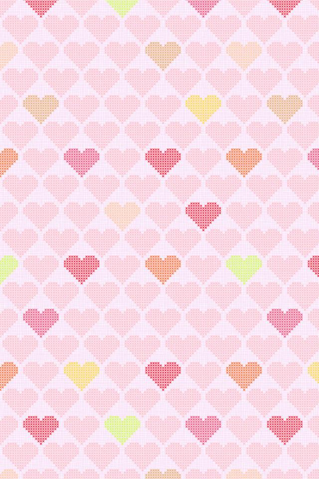 Hearts Pattern Wallpaper