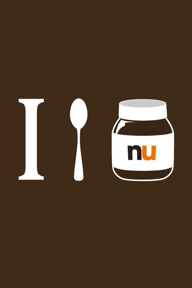 I Love Nutella Wallpaper