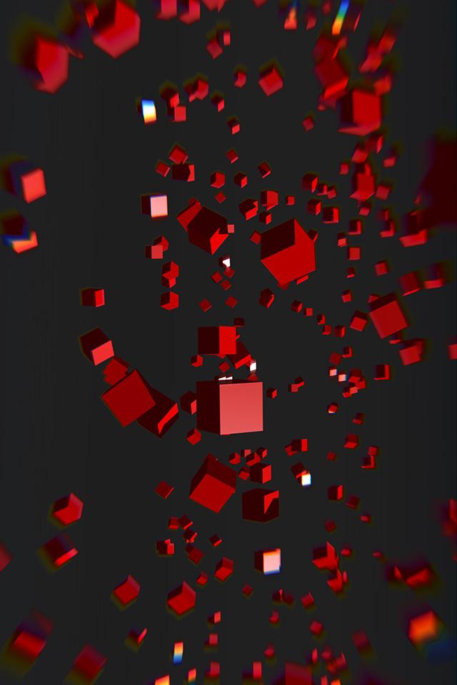 Falling Cubes Wallpaper