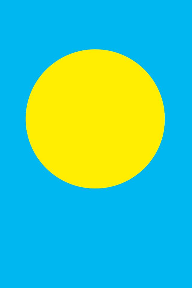Palau Flag Wallpaper