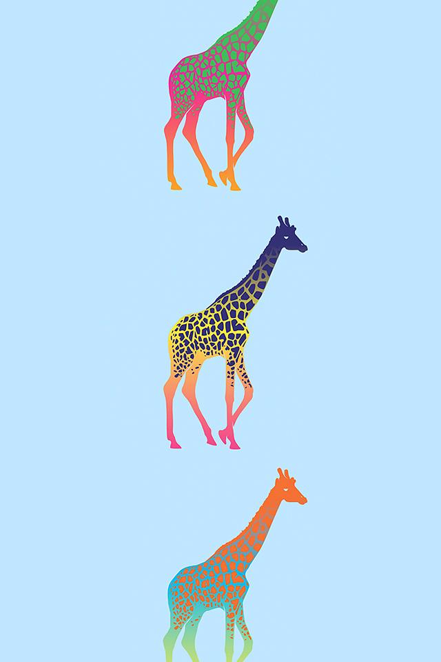 Giraffe Pattern Wallpaper