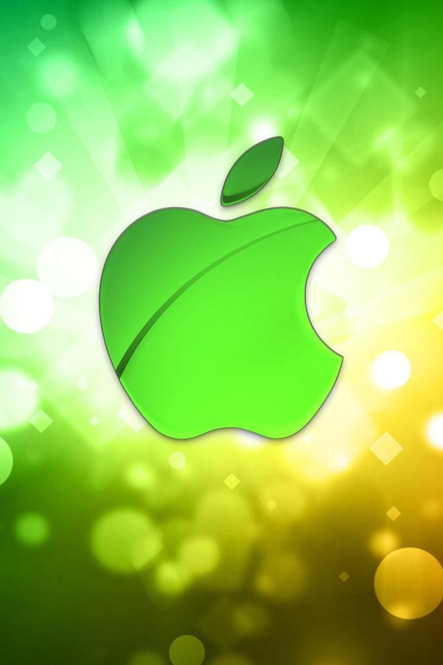 Green Bokeh Apple Wallpaper