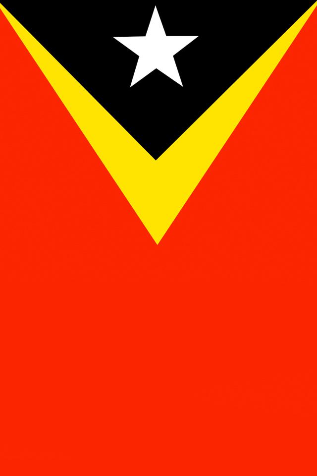 East Timor Flag Wallpaper