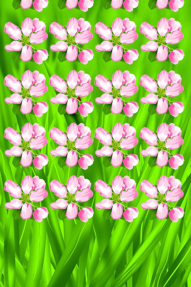 Flower Shelf Wallpaper