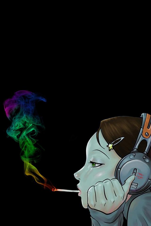 Smoker Girl Wallpaper