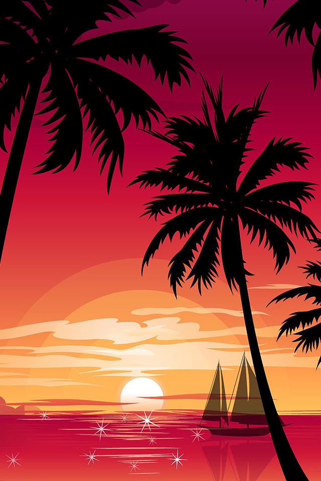 Sunset Paint Wallpaper