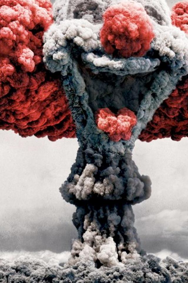 Clown Explosion Wallpaper