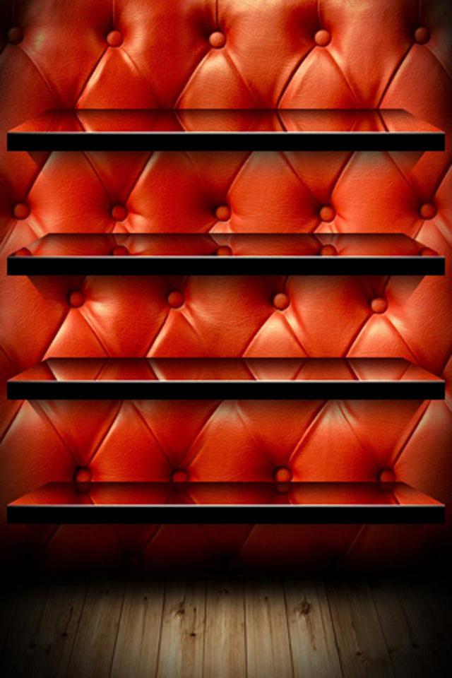 Leather Shelf Wallpaper