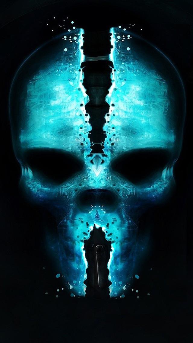Skull glow iphone wallpaper hd for Sfondi cellulare full hd