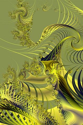 Golden Web iPhone Wallpaper