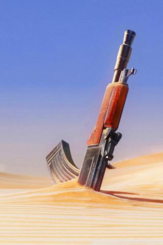 Gun in Sand