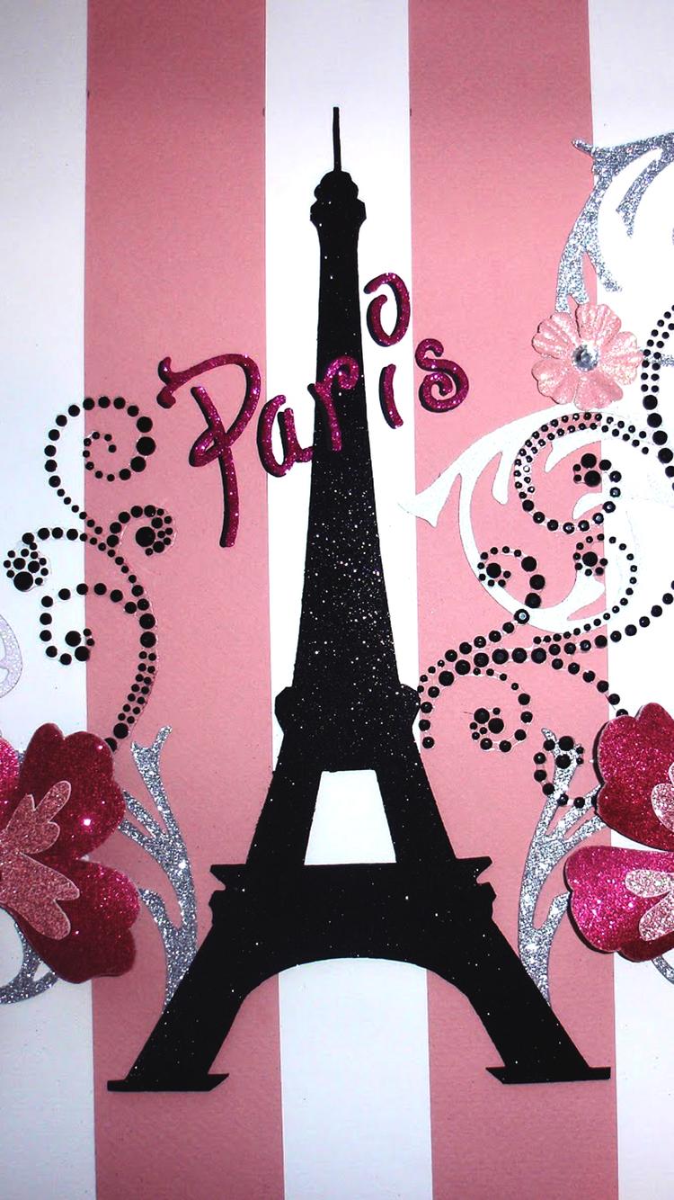 paris pink iphone wallpaper hd