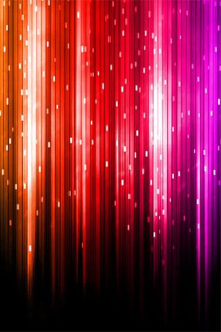 Digital Rainbow iPhone Wallpaper