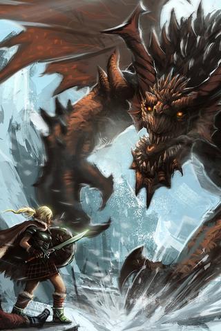 Viking and Dragon