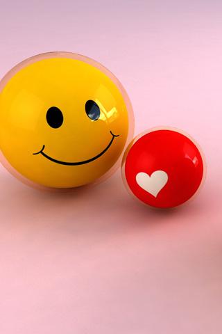 Smiley Love iPhone Wallpaper