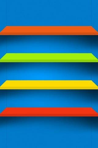 Multicolor Shelf